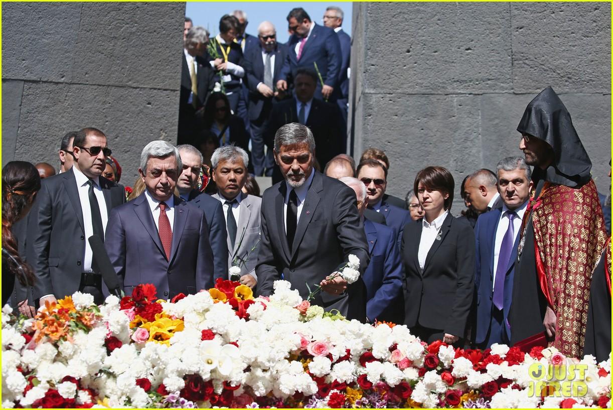 george clooney genocide memorial armenia 093638913