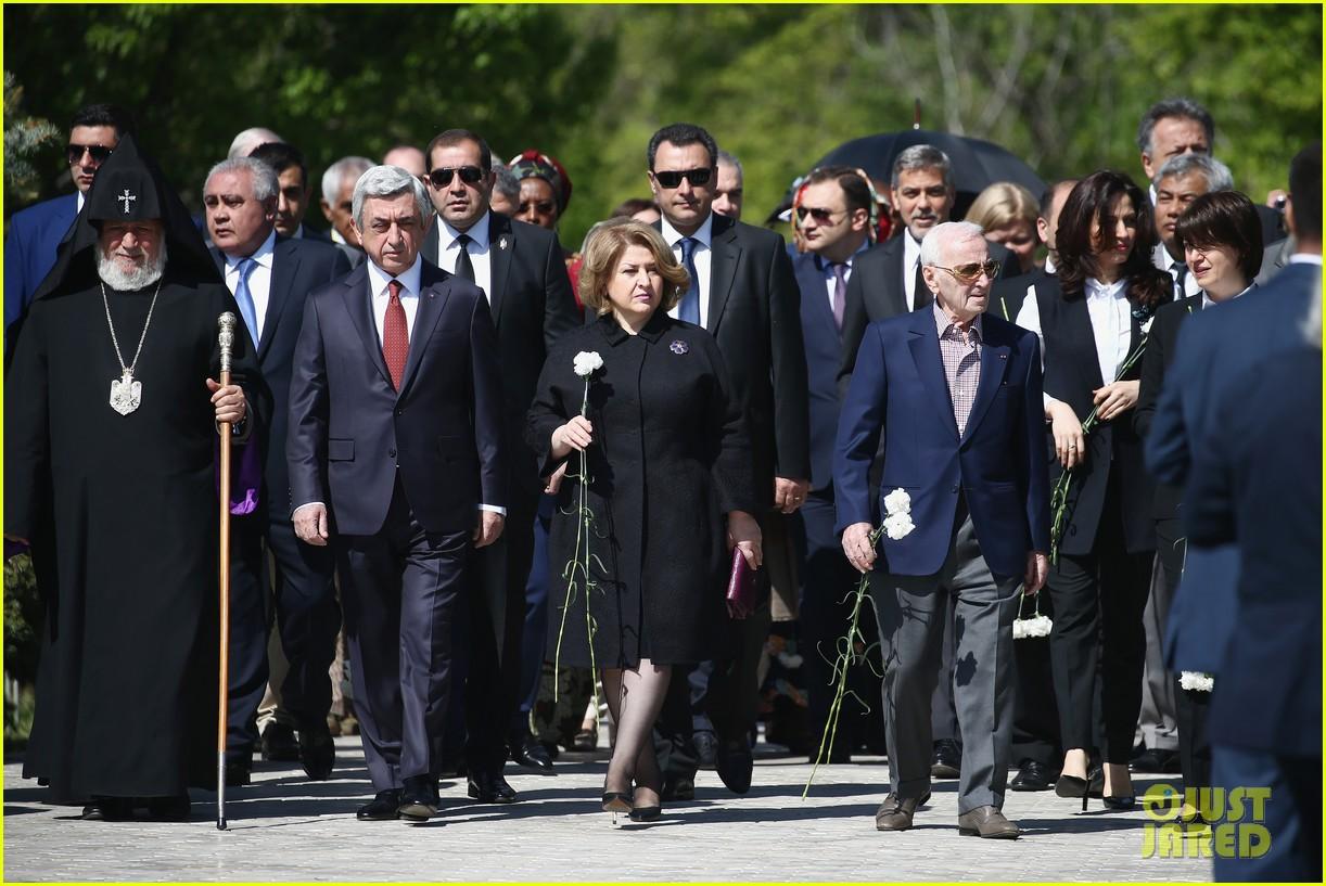 george clooney genocide memorial armenia 123638916