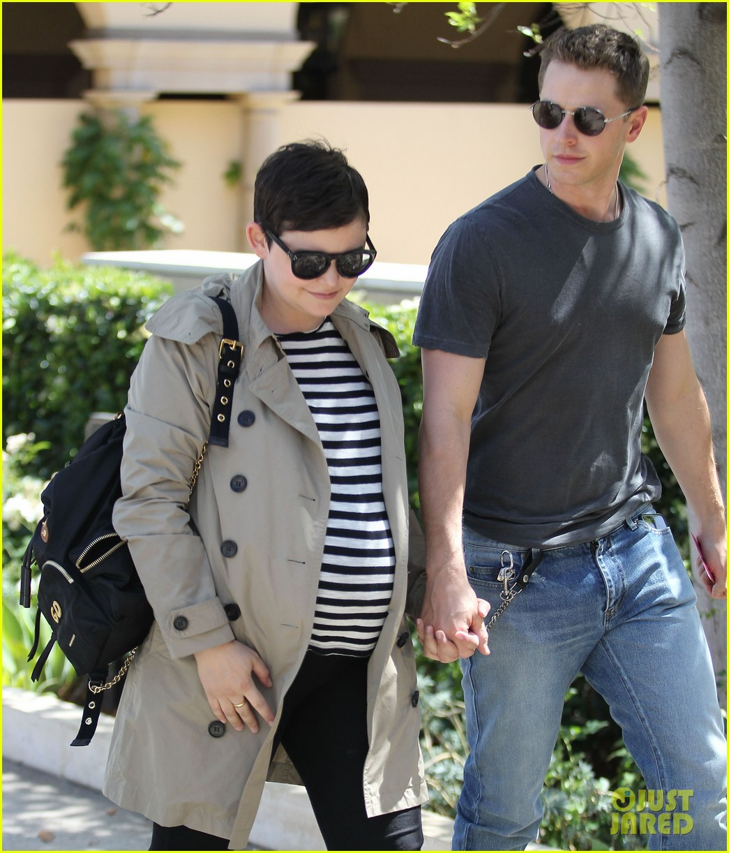 Pregnant Ginnifer Goodwin & Husband Josh Dallas Enjoy a Lunch Date