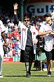 jake gyllenhaal throws opening pitch with boston bombing survivor 01