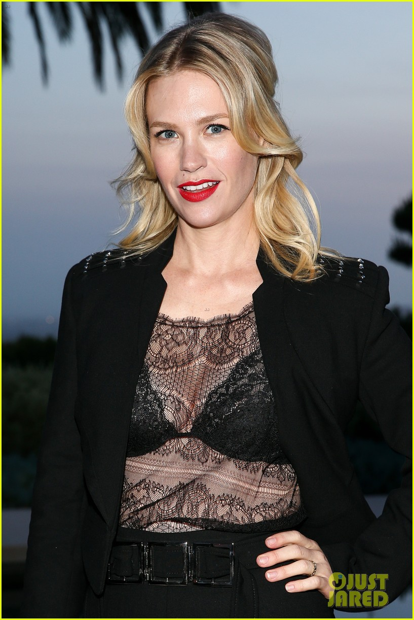 january jones flashes her bra in a sheer top 043632108