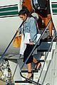 kim kourtney kardashian land in los angeles 16