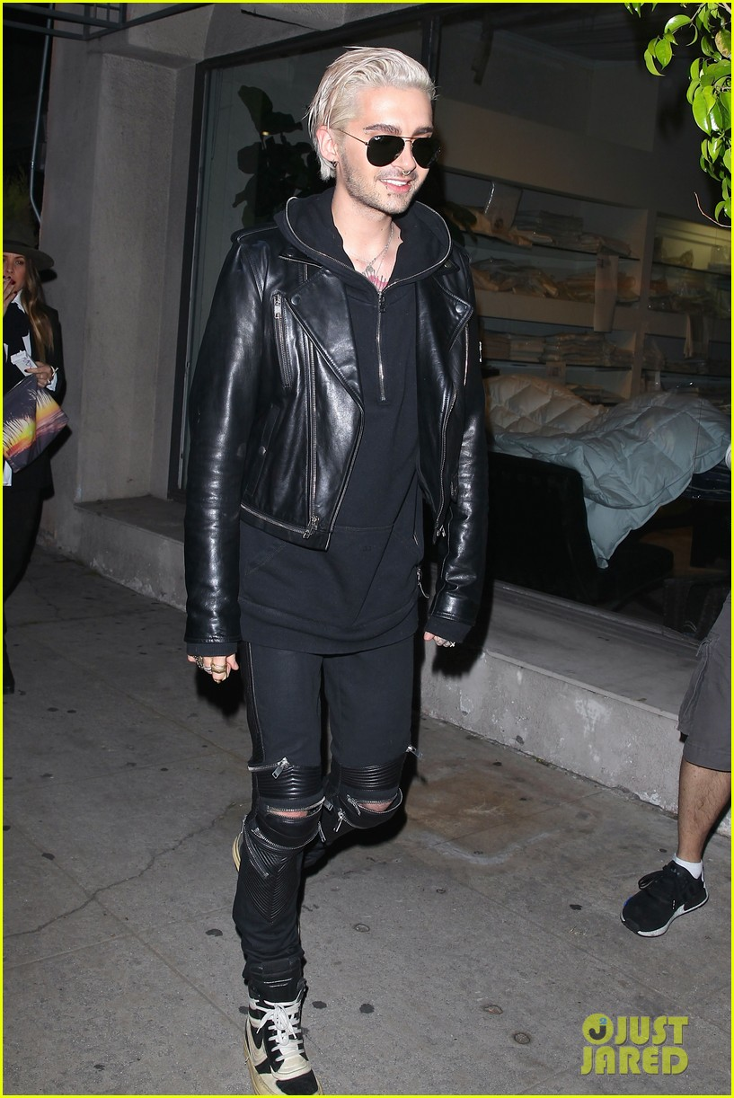 bill kaulitz steps out with freshly bleached hair 053619201