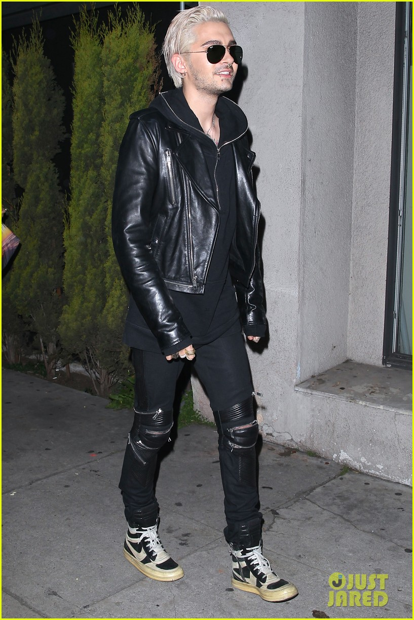 bill kaulitz steps out with freshly bleached hair 083619204
