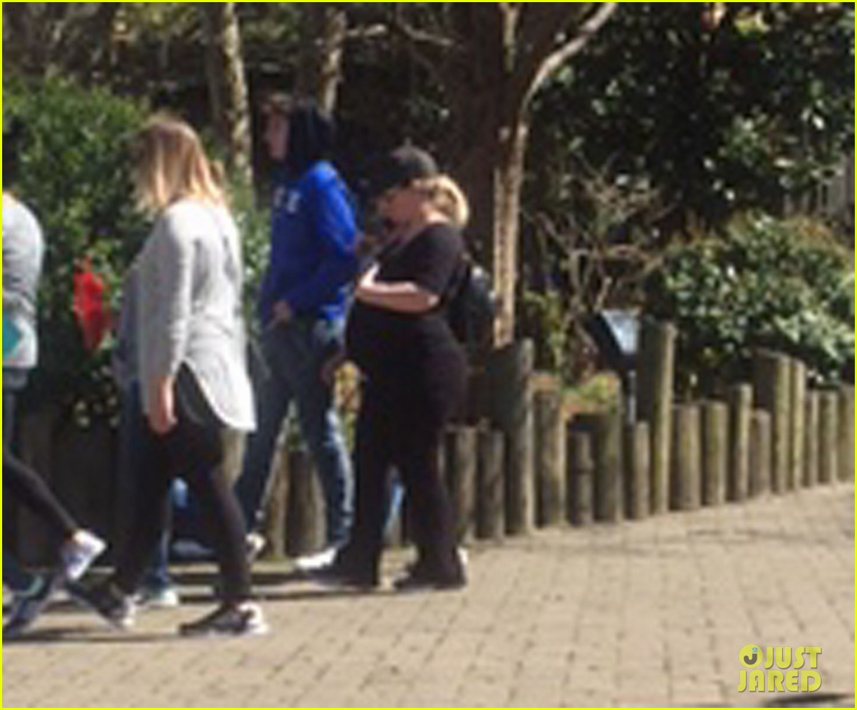 Kelly Clarkson Looks Very Pregnant While at Family Zoo