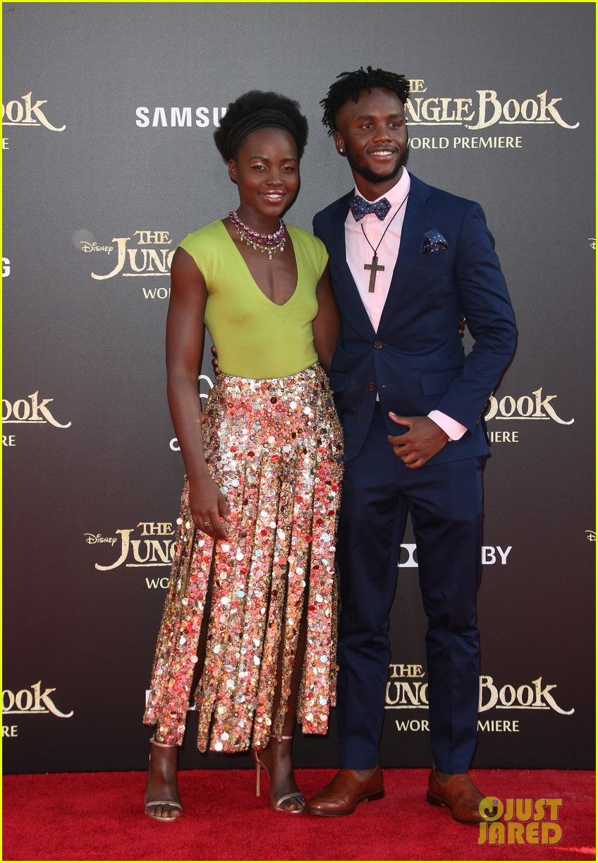 lupita nyongo brings brother peter to jungle book premeire 013622964