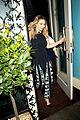 elizabeth olsen leaves maison restaurant 01