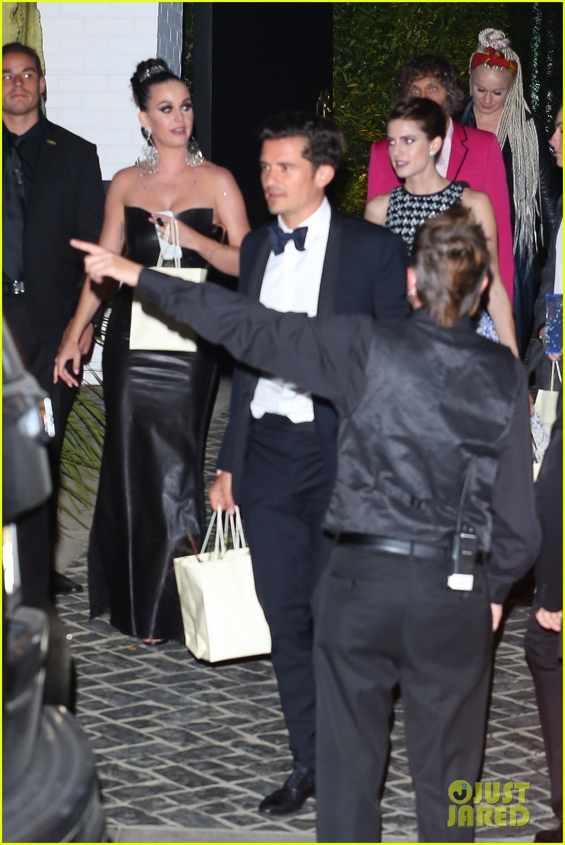 katy perry amp orlando bloom leave parker institute launch
