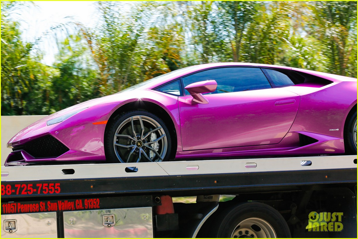Cool Purple Lamborghini
