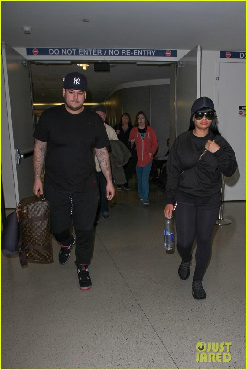 rob kardashian blac chyna land back in los angeles 123634941