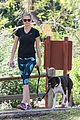 kate upton hikes with her dog 01