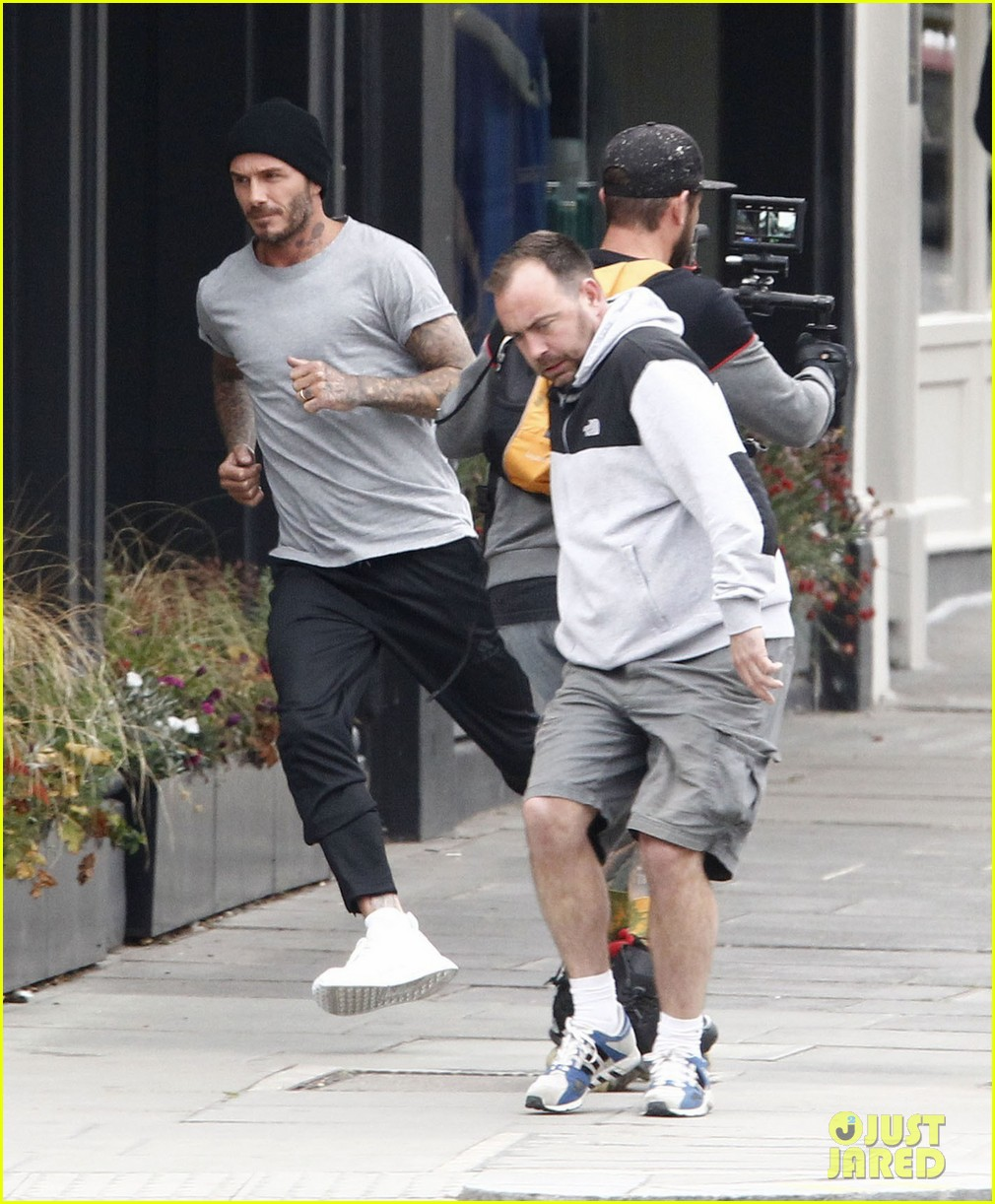David Beckham Races Around London While Ing New Adidas Ad