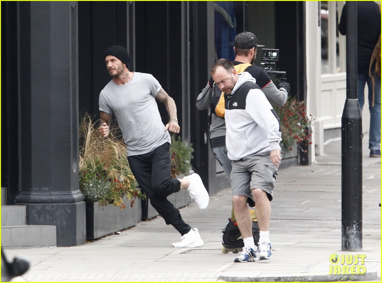 d9809afb6f8 David Beckham Races Around London While Filming New Adidas Ad  Photo ...