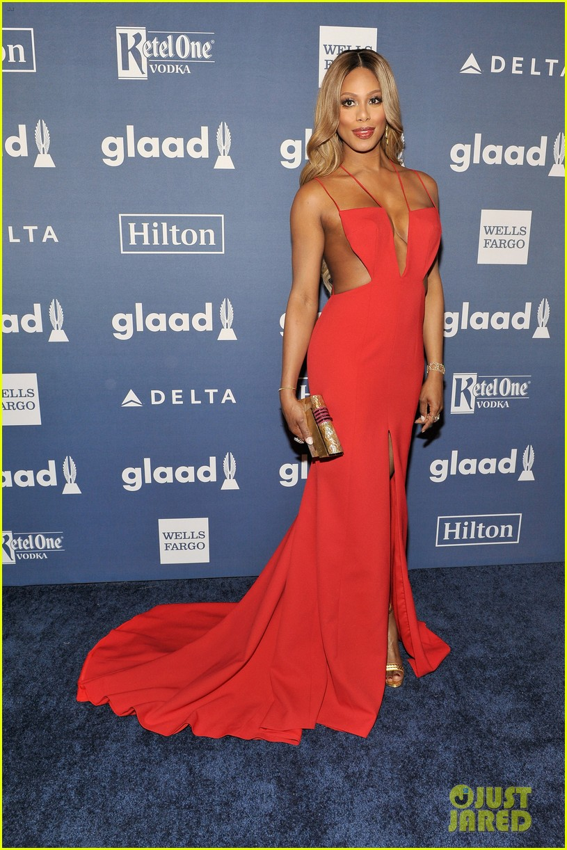 laverne cox outfit change 2016 glaad awards 113656497