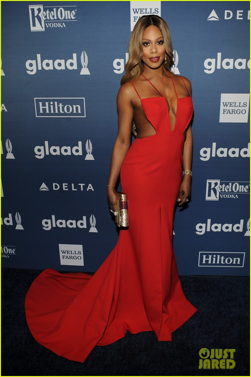 laverne cox outfit change 2016 glaad awards 133656499