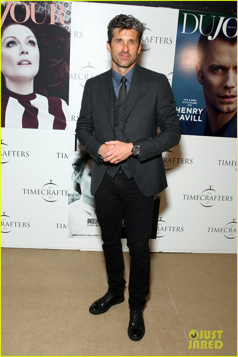 Patrick Dempsey Suits Up At Tag Heuer Event With Michael Strahan