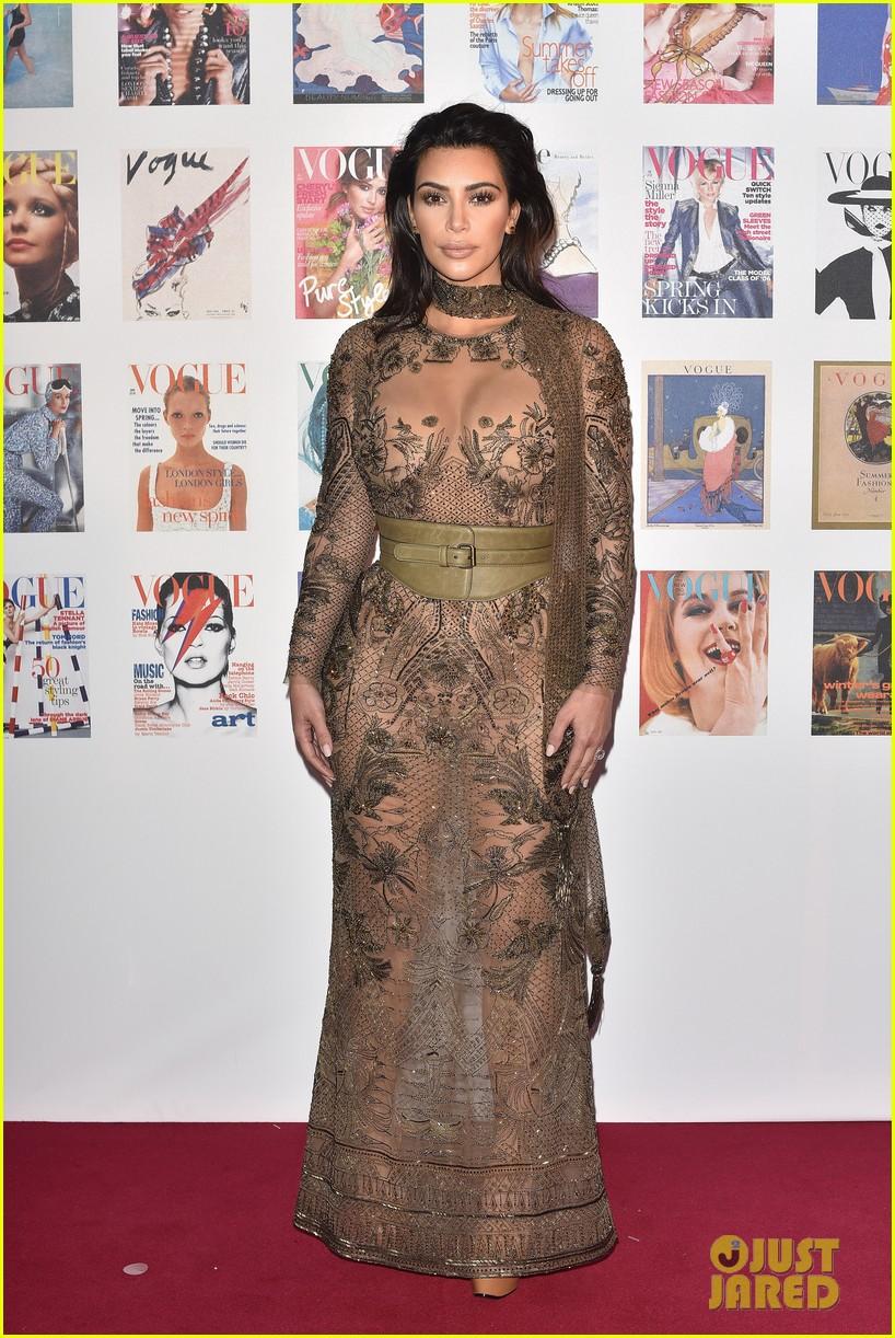 Kim Kardashian Wore a Naked Dress to the Vogue 100 Gala
