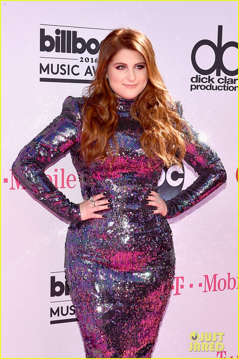 Meghan Trainor Sparkles on Billboard Music Awards 2016 Red Carpet ...