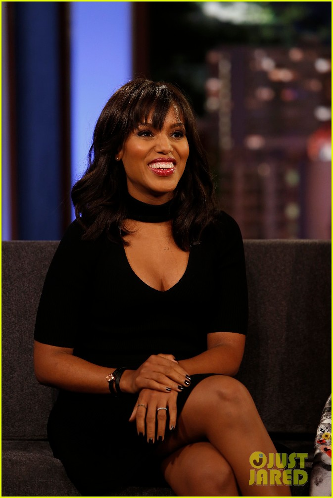 kerry washington talks about her pregnancy on kimmel 023654887