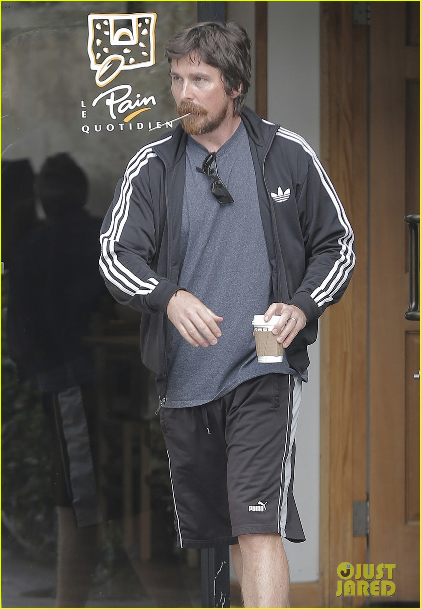 christian bale coffee mustache los angeles 043673952