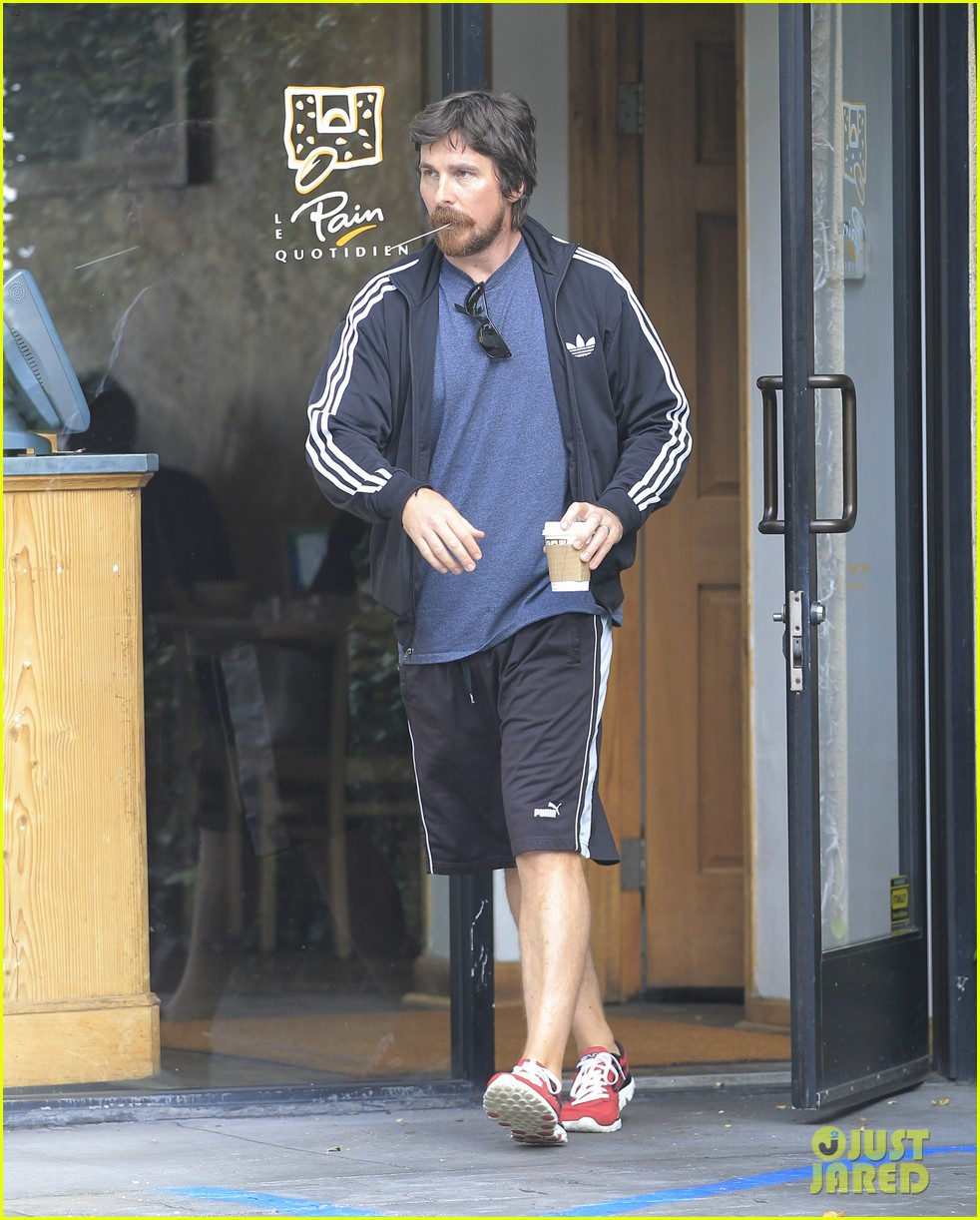 christian bale coffee mustache los angeles 063673954