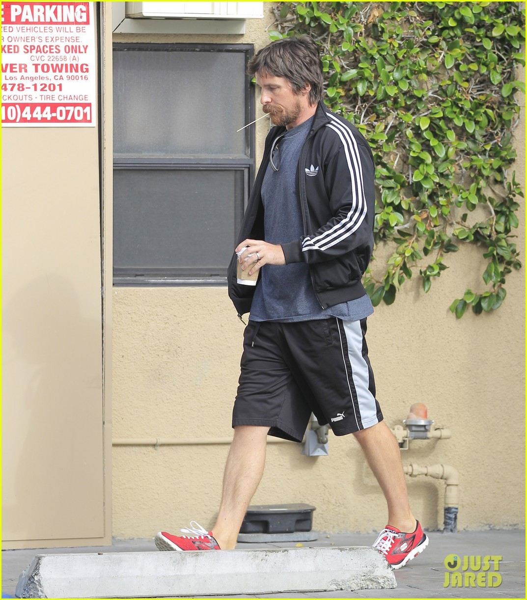 christian bale coffee mustache los angeles 113673959