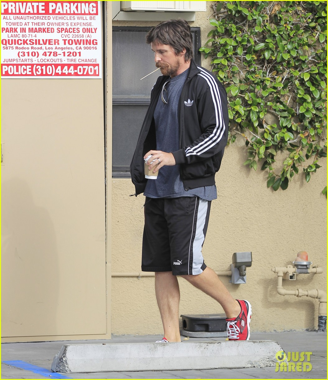 christian bale coffee mustache los angeles 123673960