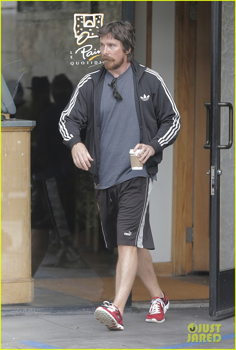 christian bale coffee mustache los angeles 203673968