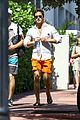diego boneta shows off his buff chest in miami 01