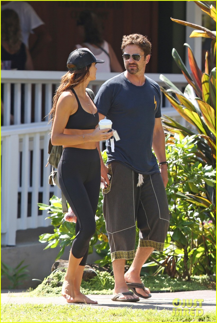 gerard butler is back home after hawaii trip with morgan brown 083672832