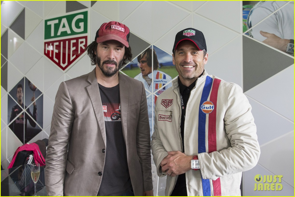 patrick dempsey keanu reeves buddy up at goodwood festival of speed 023692907