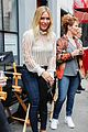 hilary duff silly face on set 08