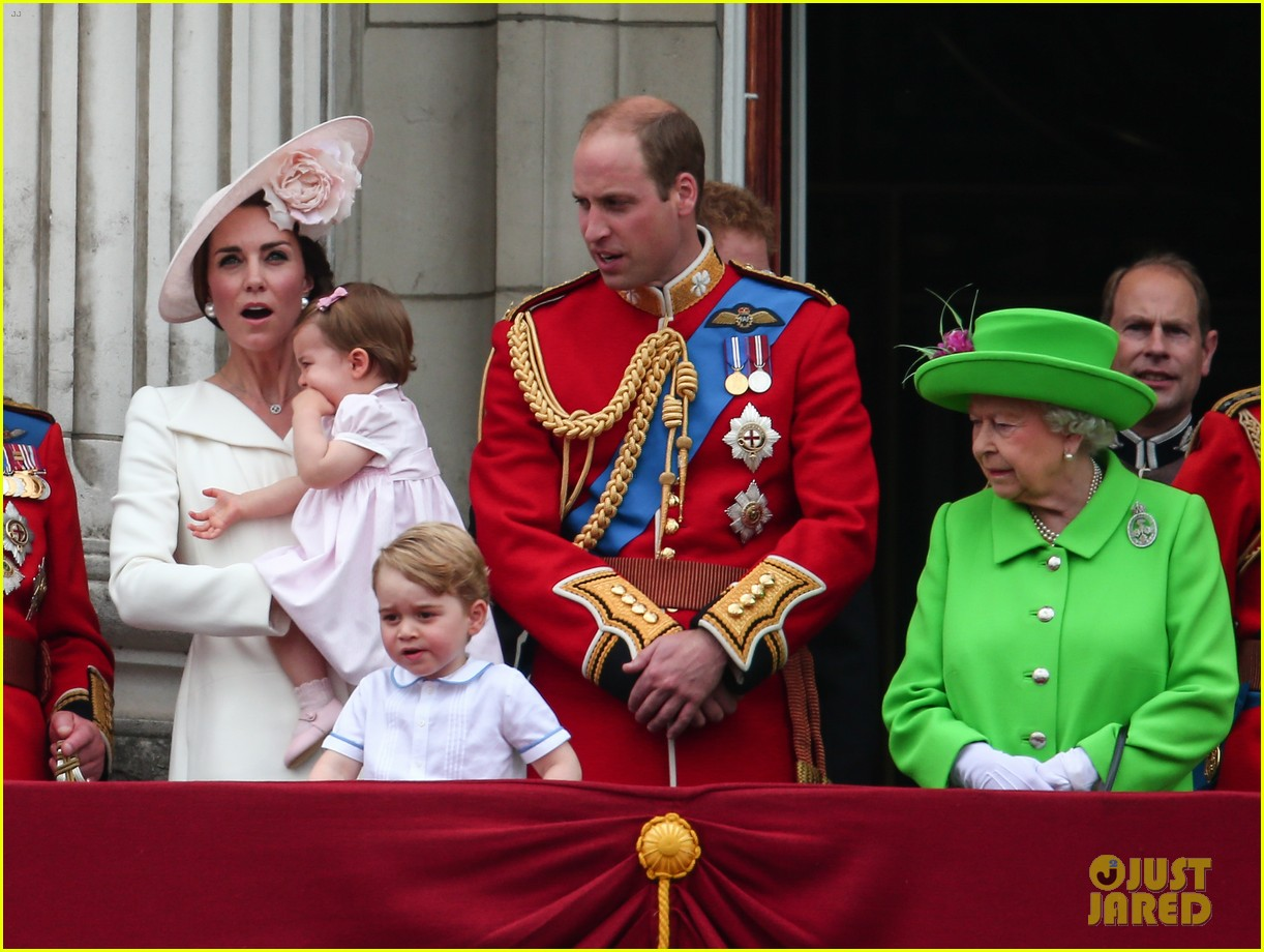 Princess Charlotte & Prince George Join Will & Kate for Trooping the ...