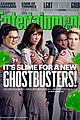 ghostbusters cast brings on the slime for ew cover