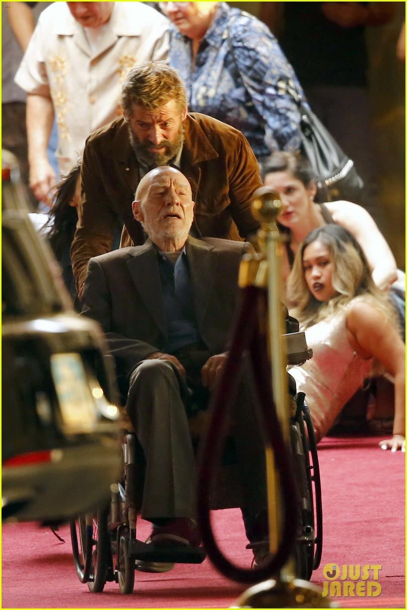 hugh jackman films wolverine 3 scenes with patrick stewart 013678425