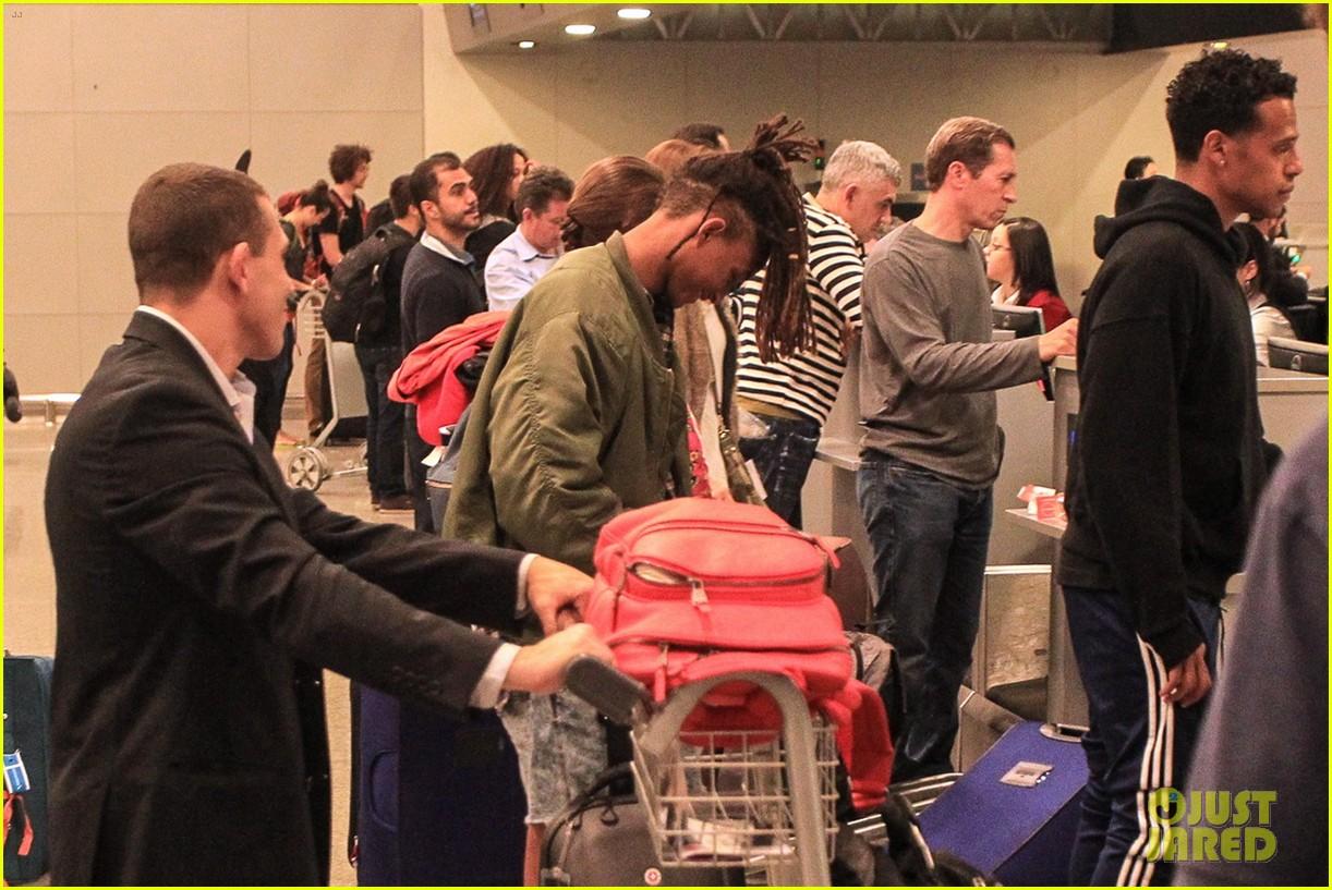 jaden smith arrives brazil luggage scooter 263672129