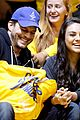 mila kunis ashton kutcher share courtside kiss at nba finals 04
