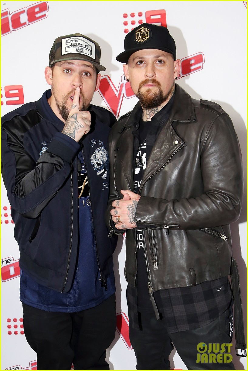 benji joel madden kick off the voice australia with jessie j 023678644