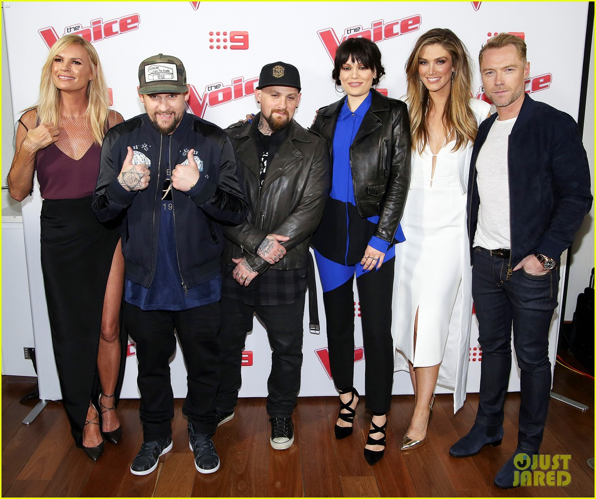 benji joel madden kick off the voice australia with jessie j 083678650