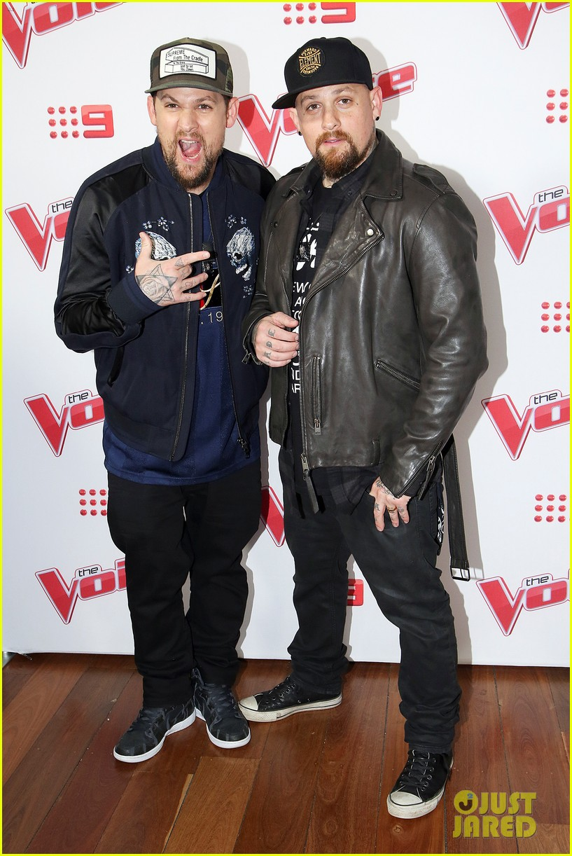 benji joel madden kick off the voice australia with jessie j 113678653