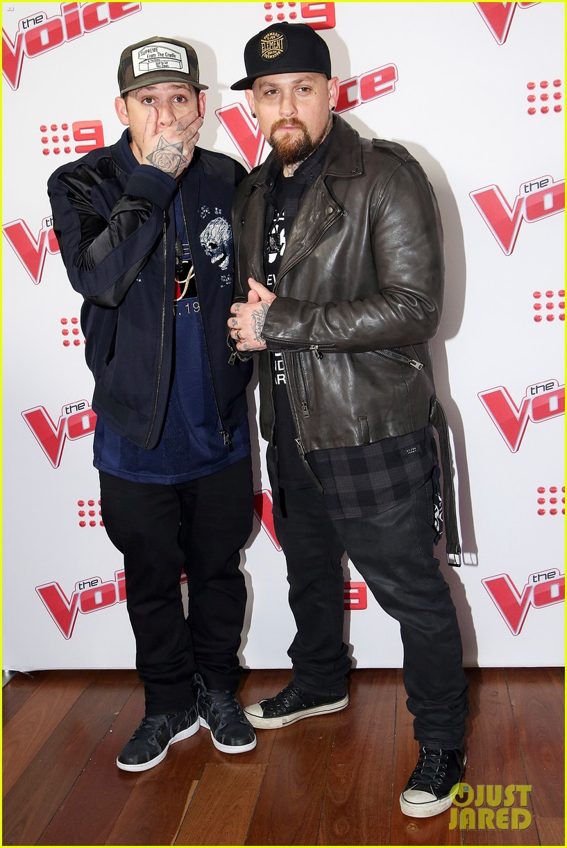 benji joel madden kick off the voice australia with jessie j 123678654