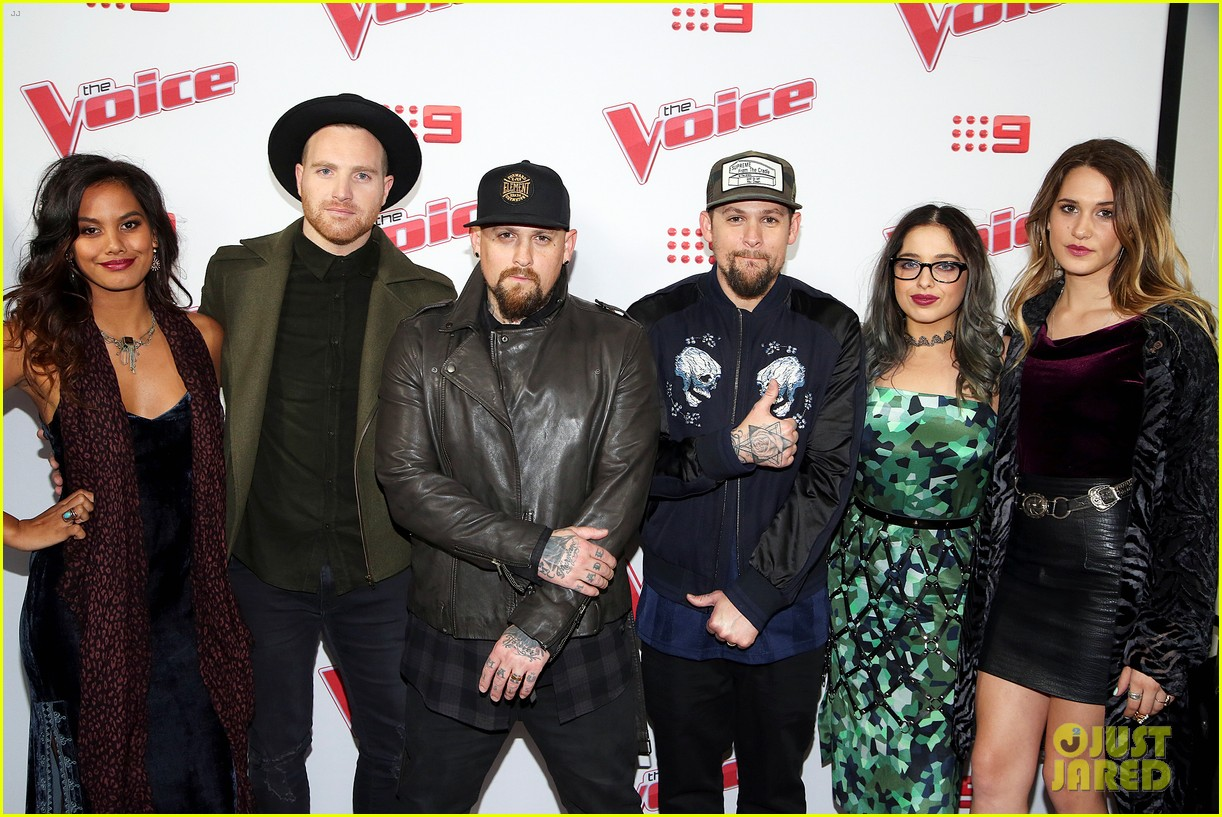 benji joel madden kick off the voice australia with jessie j 163678658