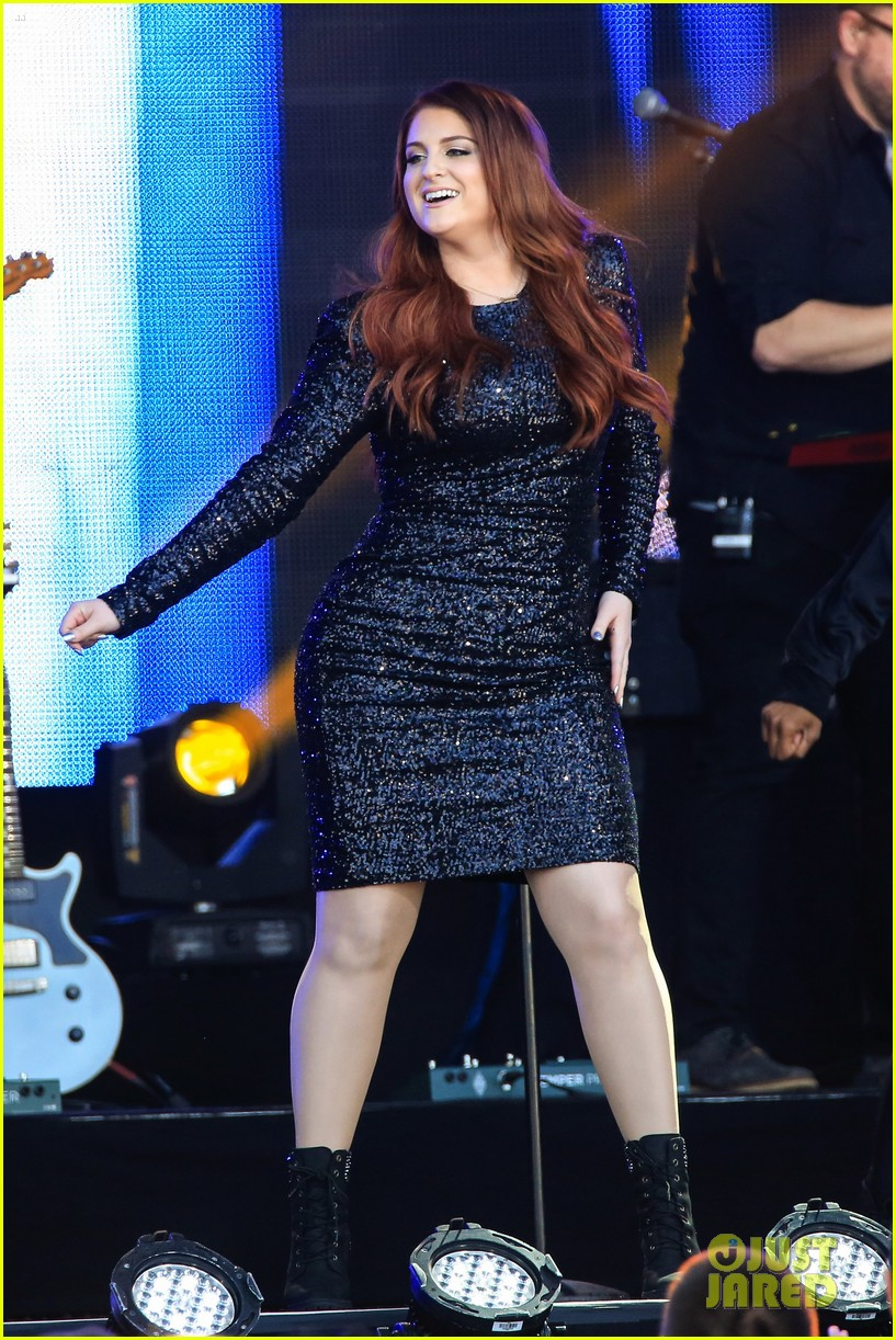 meghan trainor performs jimmy kimmel live pics blessed ig 023684195