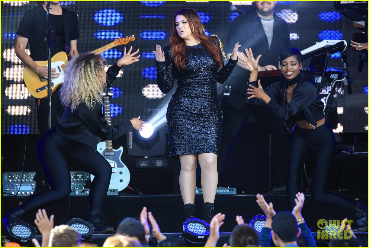 meghan trainor performs jimmy kimmel live pics blessed ig 073684200
