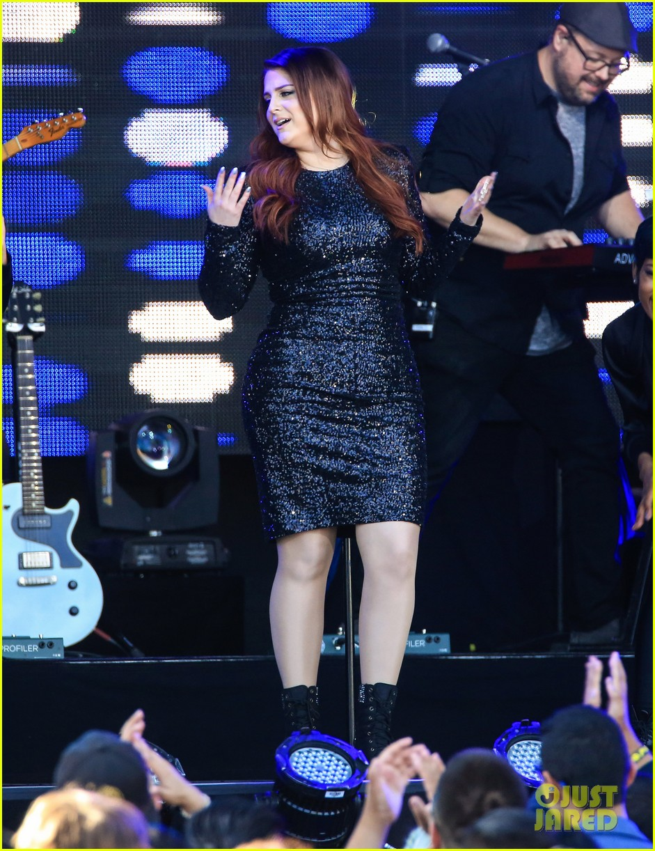 meghan trainor performs jimmy kimmel live pics blessed ig 143684207