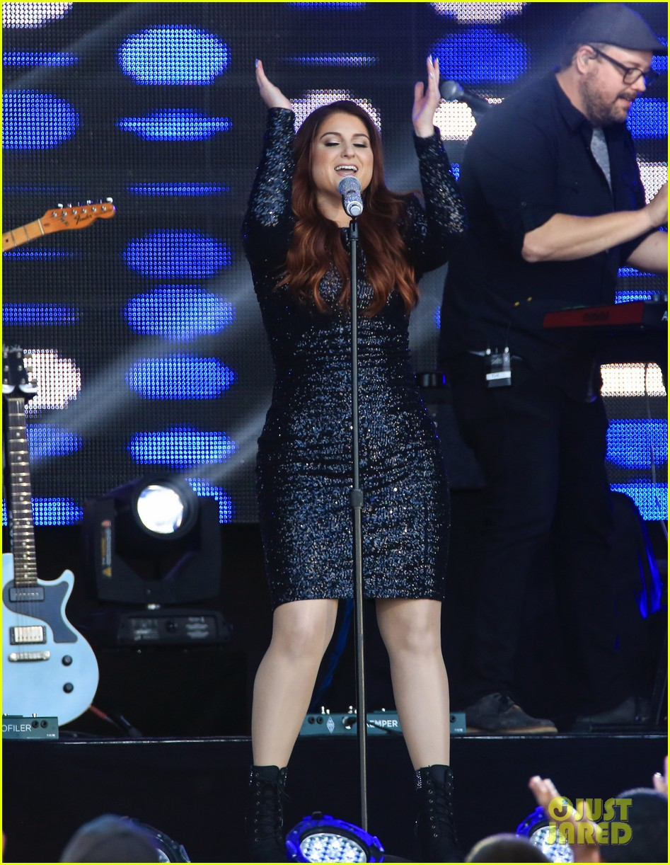meghan trainor performs jimmy kimmel live pics blessed ig 183684211