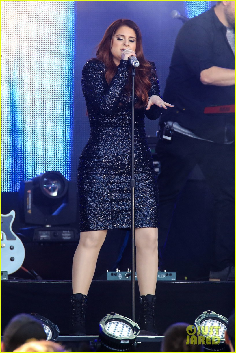 meghan trainor performs jimmy kimmel live pics blessed ig 213684214