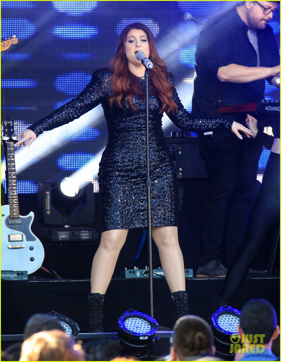 meghan trainor performs jimmy kimmel live pics blessed ig 223684215