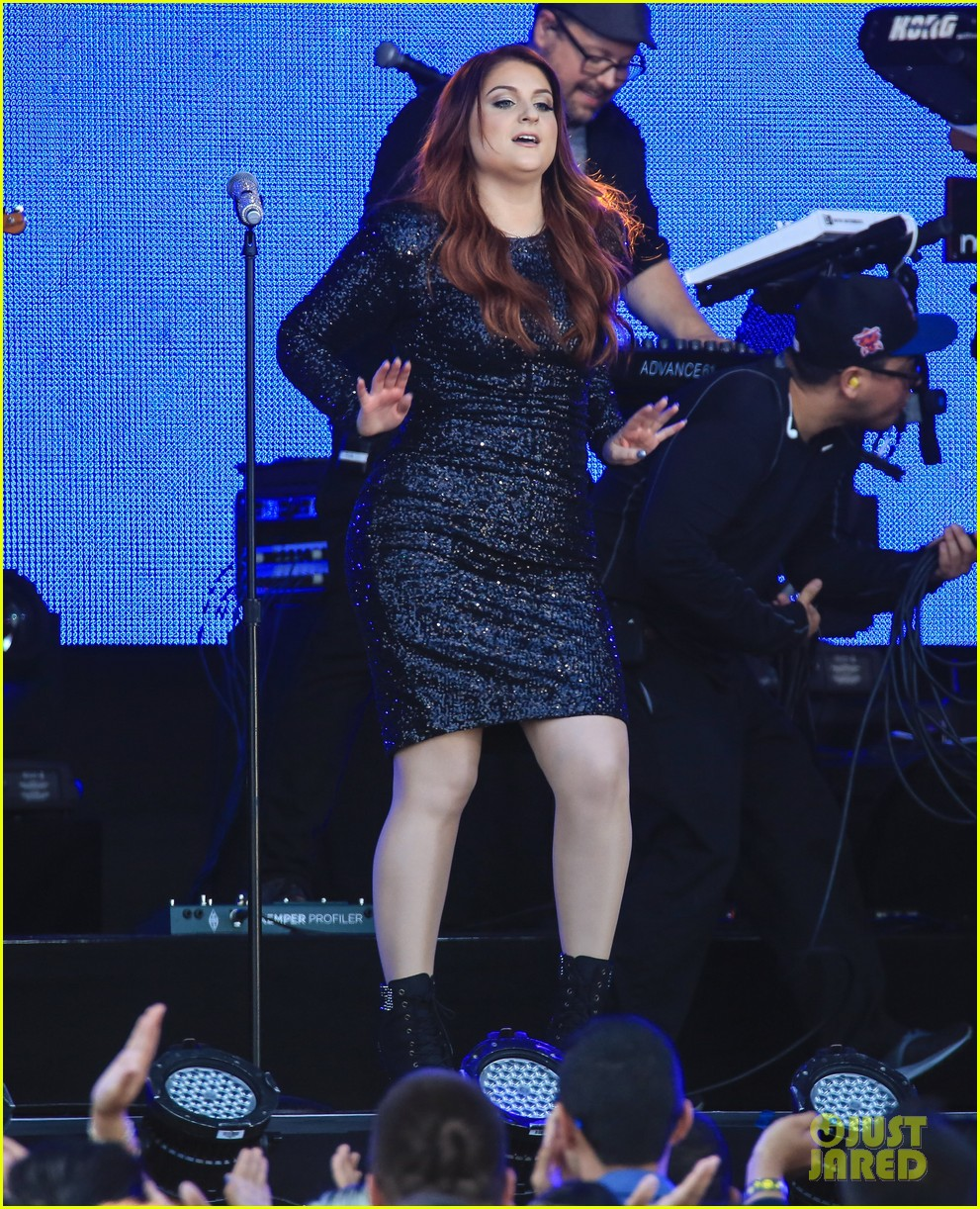 meghan trainor performs jimmy kimmel live pics blessed ig 253684218