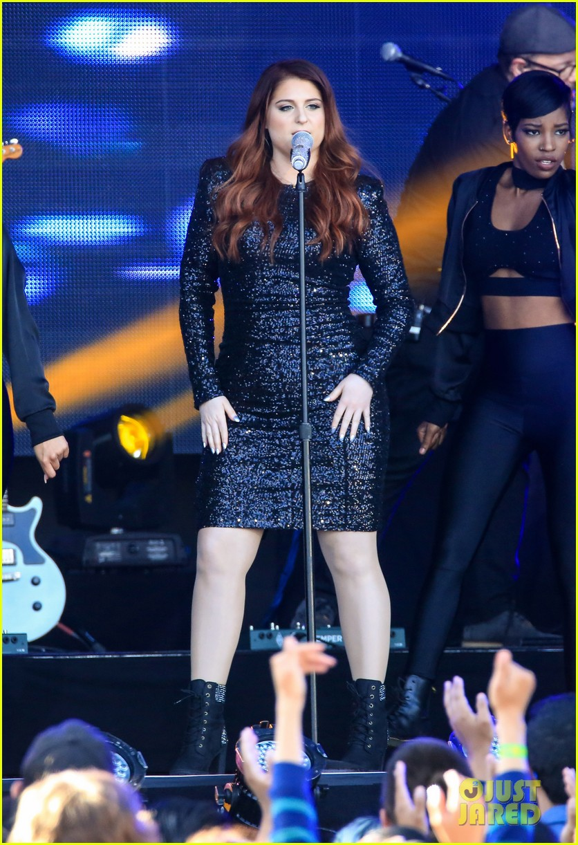 meghan trainor performs jimmy kimmel live pics blessed ig 313684224